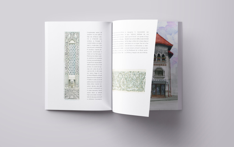 "Interior of the book ""The Neoromanian Detail"""